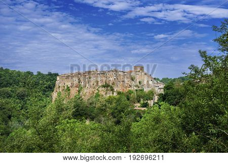 Calcata medieval town fortified historic center near Rome