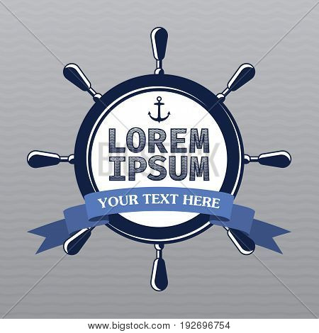 Lorem Ipsum Design Template Poster with words your text here vector illustration