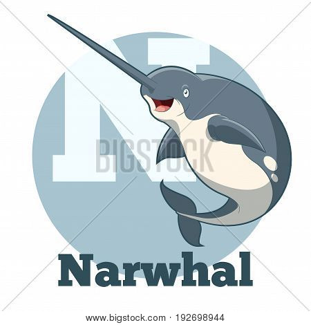 Vector image of the ABC Cartoon Narwhal
