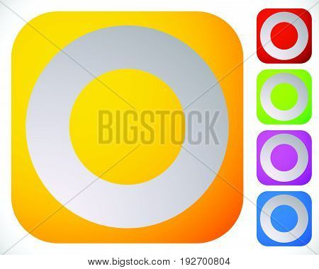 Icon With Empty Circle. Circle Generic Motif Icon