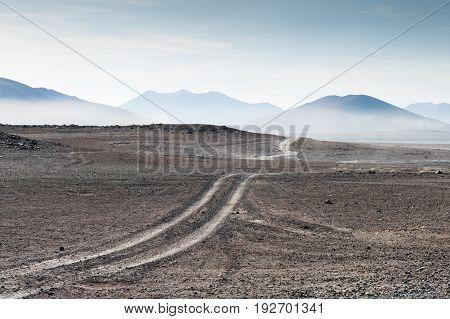 Desert Landscape On The Plateau Altiplano, Bolivia