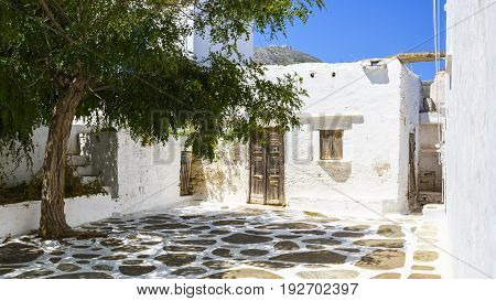 Typical Cycladic architecture in Artemonas village on Sifnos island in Greece.