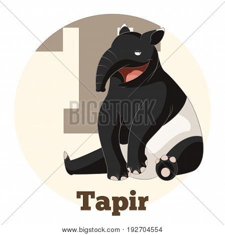 Vector image of the ABC Cartoon Tapir