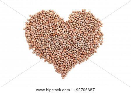 Dried Pigeon Peas In A Heart Shape