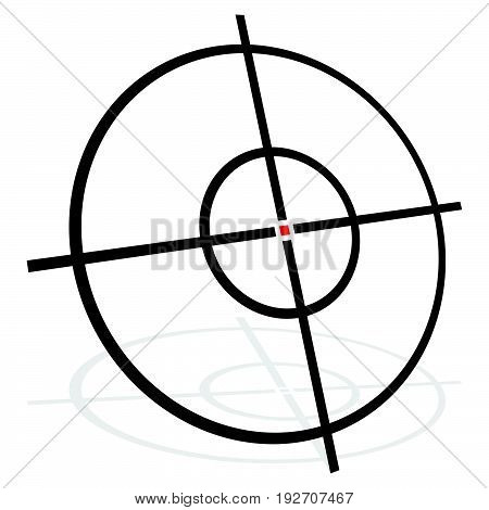Target symbol isolated on white. Accuracy target aiming concept icon. poster