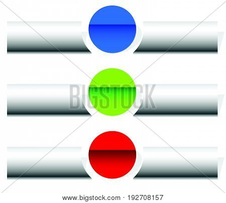 Button Or Banner Elements. Colorful Label, Tag For Your Messages. Abstract Rectangular Button Shape,