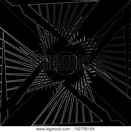Abstract Print, Texture With Bevel-like Effect. Random Abstract Texture