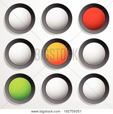 Traffic Lamp, Traffic Light, Semaphore Icon Set