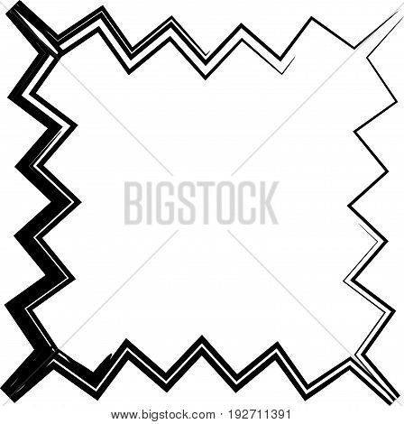 Contour Shape With Different Distortion Effect. Abstract Geometric Design Element