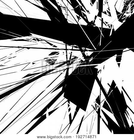 Abstract Art. Artistic Abstract Geometric, Illustration. Black And White Abstract Element