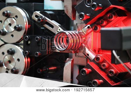 Automatic machine for coiling of steel wire
