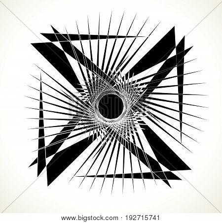 Geometric Edgy Random Shape. Abstract Textured Design