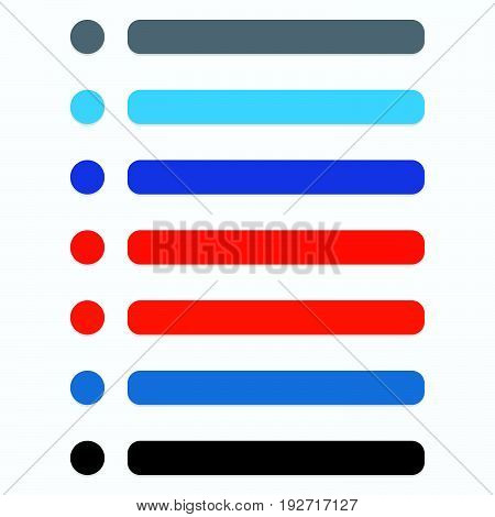 Flat Circle And Rectangle Button Set With Modern Color. Ui, Gui Buttons Or Navigation Menu, Banner E