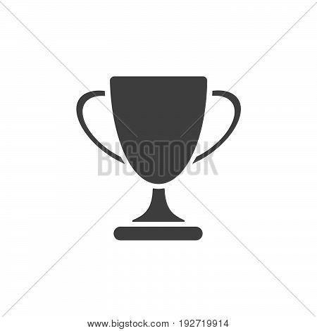Isolated trophy icon on a white background