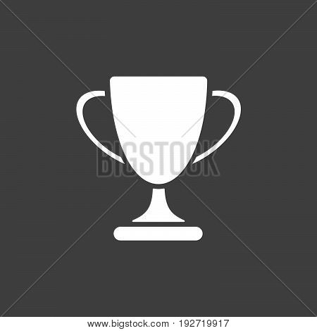 Isolated trophy icon on a black background