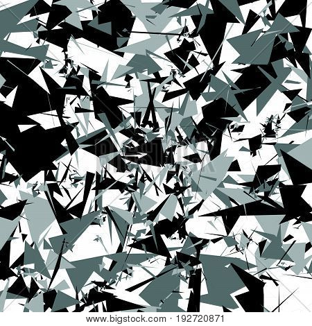 Scattered Pattern. Scattered Overlapping Random Shapes Geometric Pattern