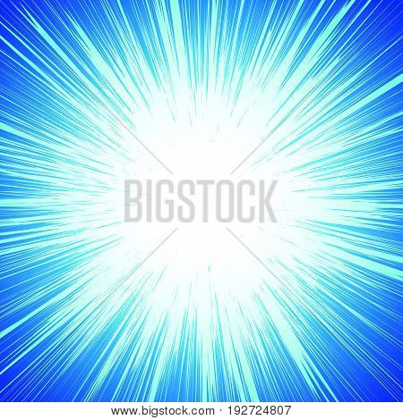 Vivid Colorful Background With Starburst (sunburst)-like Motif. Abstract Radial Lines Fading Into Ba