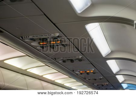 During The Flight, Passengers See An Indication Of The Need To Fasten The Seat Belt. No Smoking.