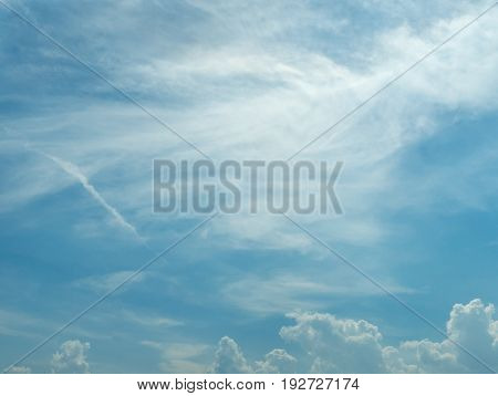 Cloudy blue sky abstract background.Cloudy on blue sky