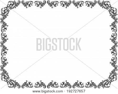 Ornate Floral Black Frame