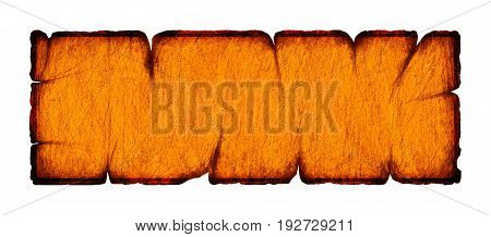Illustration of old signboard on white background