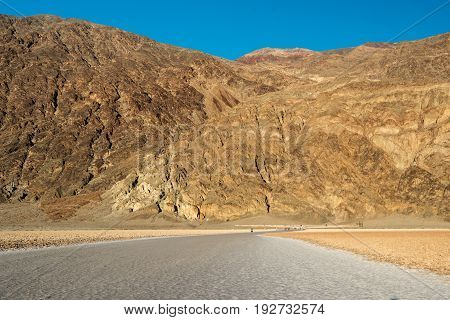 Mountain At Badwater Basin