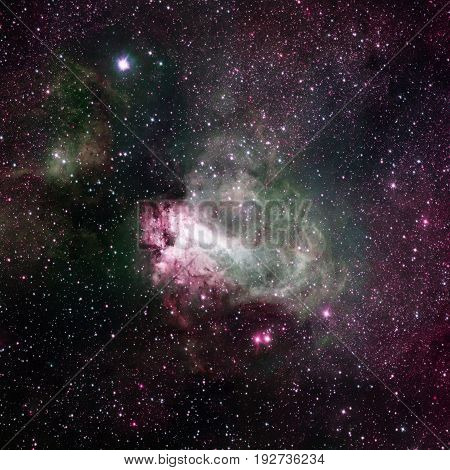 Star-forming Region Messier 17, Omega Nebula Or Swan Nebula .