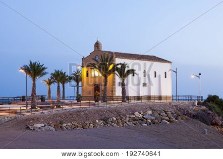 Church Ermita de Nuestra Senora del Carmen in Isla Plana Region of Murcia Spain