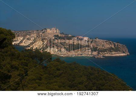 Beautiful view of San Nicola island in Italy