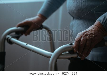 Senior With A Walker
