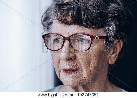 Sad Older Lady