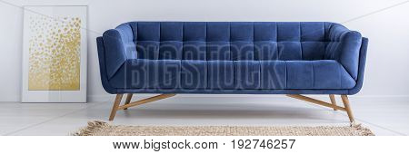 Poster, Sofa And Rug