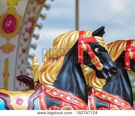 Vintage carousel horse. The Vintage carousel horse