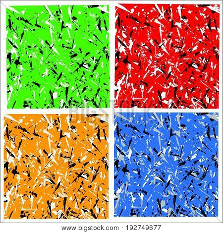 Abstract Multicolor Pattern / Texture With Scattered Edgy Shapes (unreal Colors)