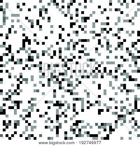 Minimal Seamless Pixelated Mosaic Pattern With Random Pixels. Repeatble Low Resolution, Retro Textur
