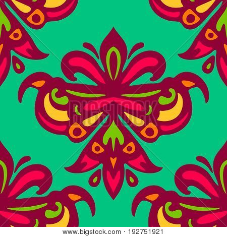 Coloful festival indian damask luxury seamles pattern