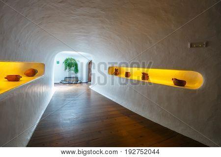 Lanzarote, Spain, March 31, 2017: Interior Of The Mirador Del Rio Made By Cesar Manrique, Lanzarote,