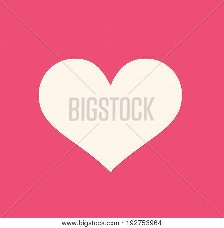 Heart illustration. Heart icon symbol. Vector stock.