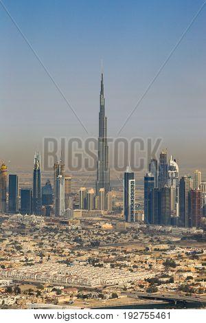 Dubai Burj Khalifa Vertical Aerial View Photography