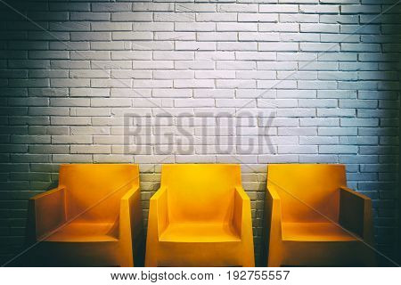 Vintage shot of an empty waiting room