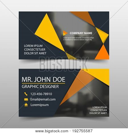 Orange corporate business card name card template horizontal simple clean layout design template Business banner template for website
