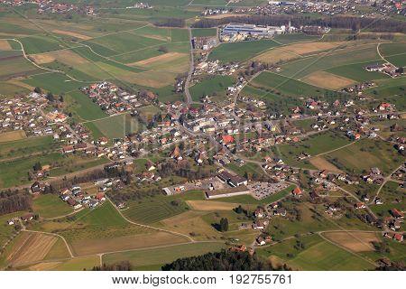 Dürrenäsch Duerrenaesch Canton Aargau Switzerland Aerial View Photography