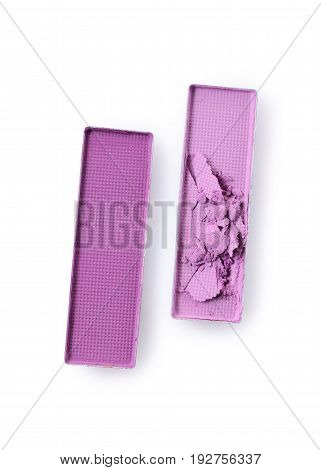 Purple Crushed Eyeshadow For Make Up As Sample Of Cosmetic Product