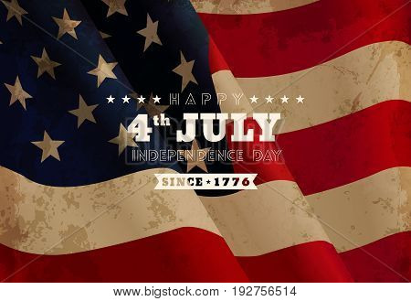 Vector flag of the united states. Holiday 4 July