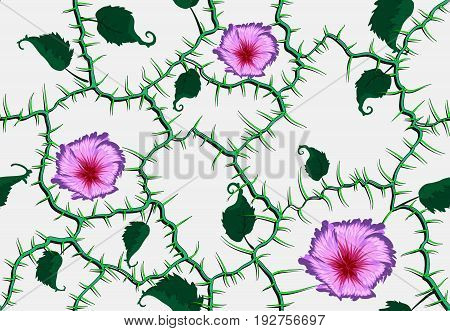 Flowers And Branches Seamless Pattern