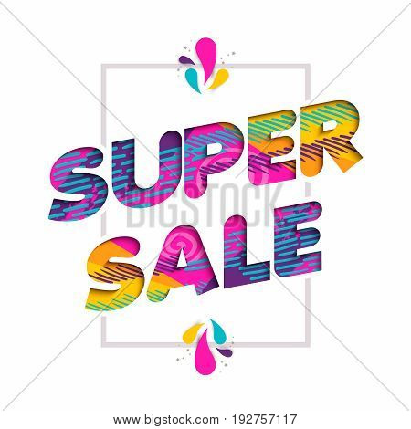 Super Sale Quote Sign Price Discount In Fun Color