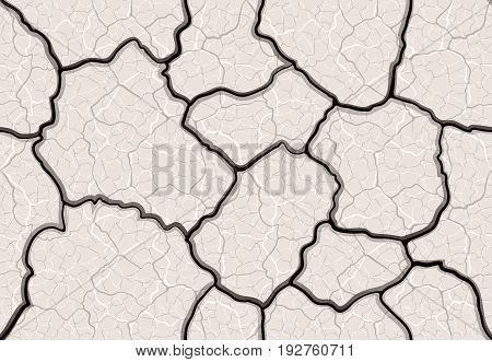 Cracks In The Ground Seamless Pattern