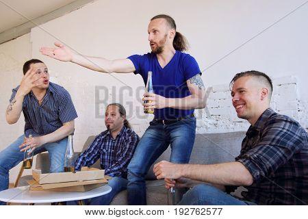 Friends Argue About Football Match