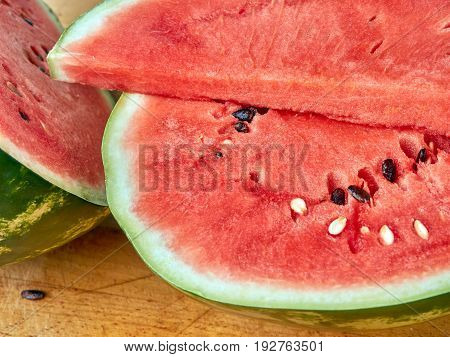 Watermelon Cut Into Close-up