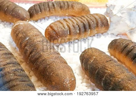 Dried Sea Cucumber, A Delicacy In Chinese Cuisine